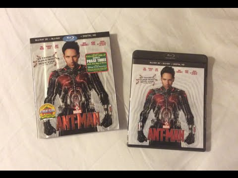 Ant-Man 3D (2015) Blu Ray Unboxing Review