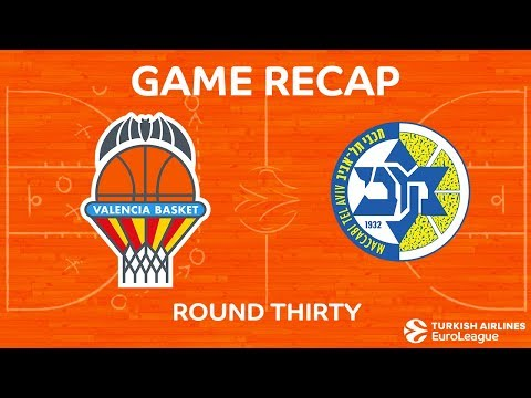 EuroLeague 2017-18 Highlights Regular Season Round 30 video: Valencia 87-84 Maccabi