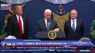 "Like And Subscribe! ImJustJoshinYa! Tune in Next Time! President Trump Was At The Pentagon Today To Introduce and Swear in The New Secretary Of Defence James ""Mad Dog' Mattis"
