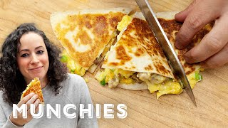 Breakfast Quesadillas - The Cooking Show with Farideh by Munchies