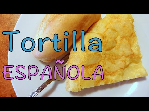 Eating Tortilla de Patatas in Madrid, Spain