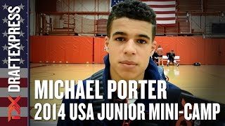 2014 Michael Porter Interview - DraftExpress - USA Mens Junior Team Mini-Camp