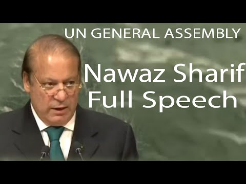 Watch Nawaz Sharif Speech in United Nation General Assembly 21 Sep 2016