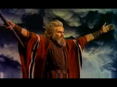 Moses goes up to the mountains to talk to God and get the 10 commandments