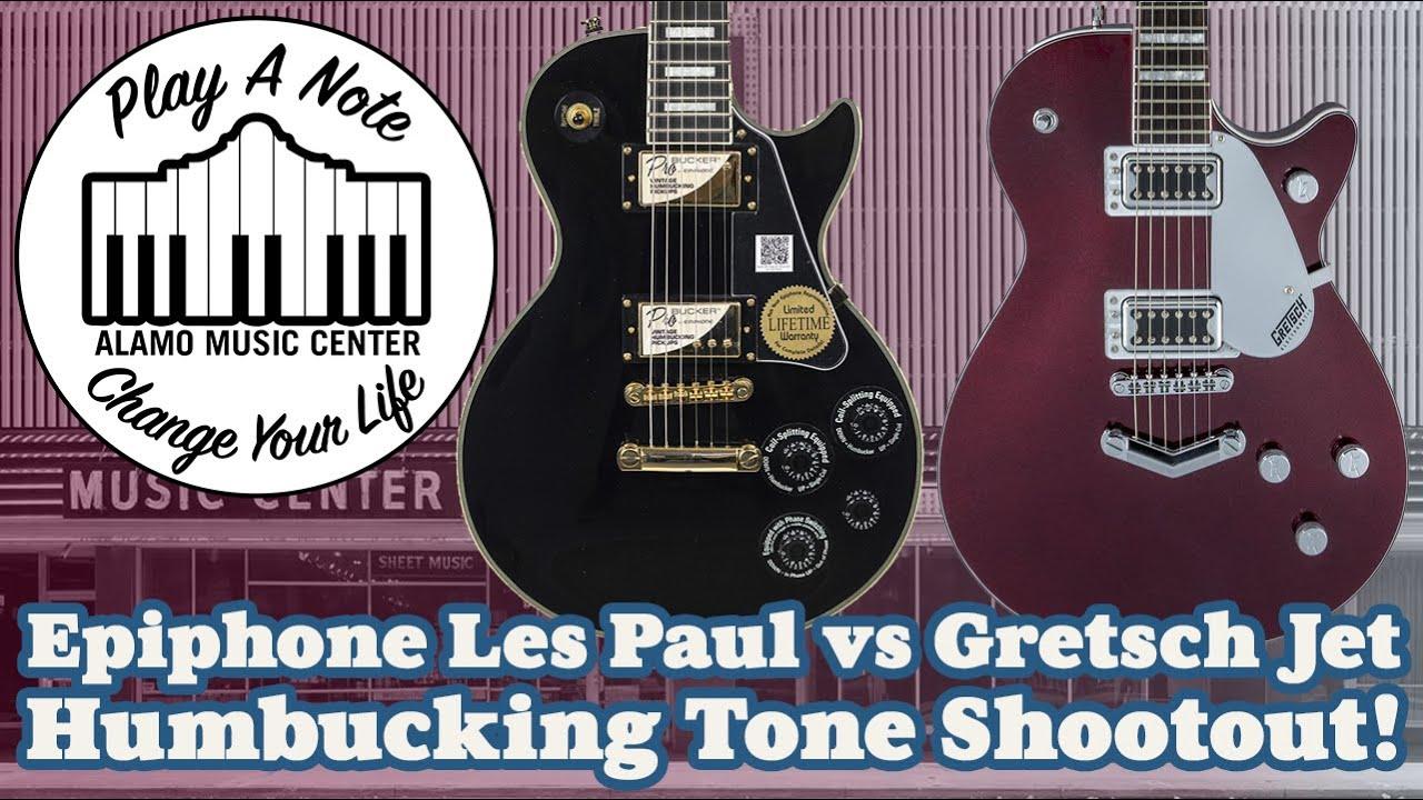 Epiphone Les Paul vs Gretsch Electromatic Jet BT – Solid Body Electric Guitar Humbucking Shootout!