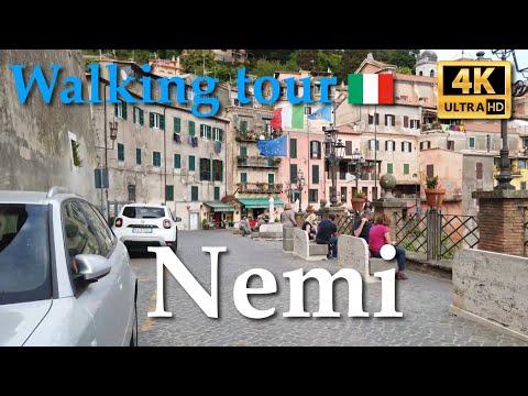 Nemi, Italy【Walking Tour】4K