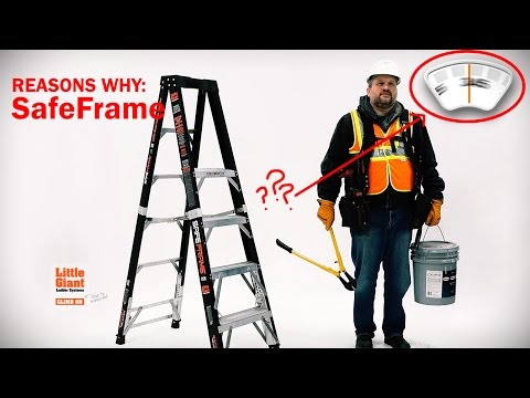 Stepladder Safety: What It's All about - SafeFrame by Little Giant