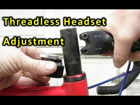 Bicycle - How a threadless bicycle headset works and how to adjust it.