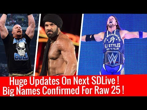 Huge Update On Next Smackdown Live! Big Superstars Confirmed For Raw 25th Anniversary 1/9/2018 Jan 9