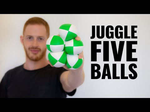 Guy learns how to juggle 5 balls at the same time in 30 days