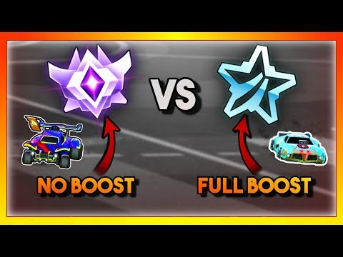 Platinum With Unlimited Boost vs a Grand Champion With NO BOOST