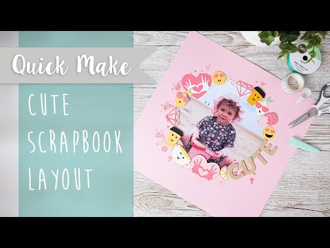 Cute Scrapbook Layout - Sizzix