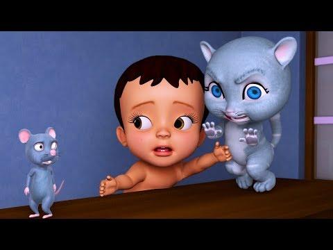 Chuhe Ne Kya Kiya? Bhaago Baag   Hindi Rhymes for Children   Infobells