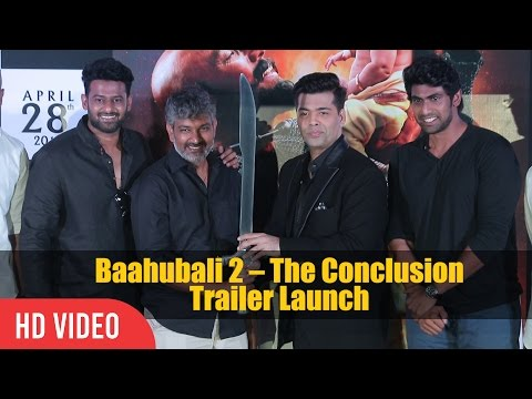 Video UNCUT - Baahubali 2 The Conclusion Official Trailer Launch | Prabhas, S. S. Rajamouli, Rana, Karan download in MP3, 3GP, MP4, WEBM, AVI, FLV January 2017