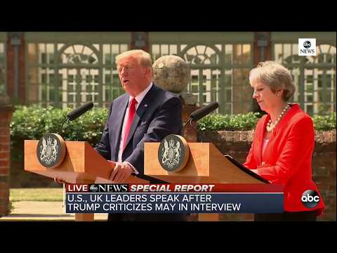 Pres. Trump, PM May hold joint news conference in U.K