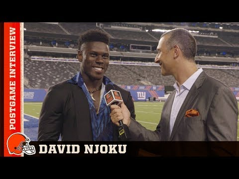 David Njoku Postgame Interview vs Giants | Cleveland Browns