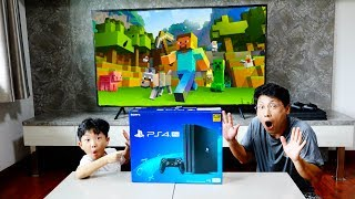 Video Kids Unboxing PS4 and Make Game Room Playhouse with ABC Song Nursery Rhymes MP3, 3GP, MP4, WEBM, AVI, FLV Juli 2018