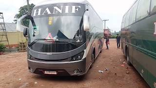 Travel experience on Hanif Hino RN SKS E5 V2 Dhaka to Rangpur first commercial trip part 1