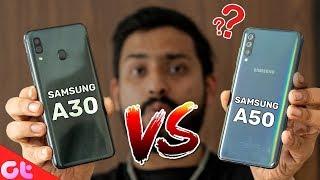 Samsung Galaxy A30 VS Galaxy A50 Comparison | Camera, Design & Display | GT Hindi