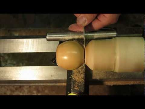 Wood Turning a Wooden Apple from....Apple Wood!