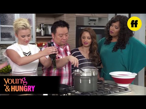 Young & Hungry | Young & Foodie Food Bomb on the Set of Young & Hungry | Freeform
