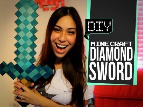 Minecraft Diamond Sword - DIY GG