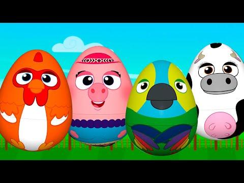 ¡Huevos Sorpresa de Animales! Bartolito, Pancha, Vaca Lola y Lorito Pepe | La Granja de Zenón
