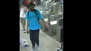 Police are searching for a man they say put his cellphone under a woman's dress and recorded a video of her. (Credit: NYPD)