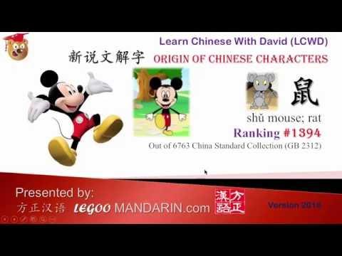 1394 鼠 mouse, rat - Learn Chinese with Flash Cards -Origin of Chinese Characters