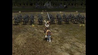 Theoden Ringhero against Uruk-hai in Lord of The Rings: The Battle for Middle Earth II- The Rise of the Witch-King- Edain Mod.