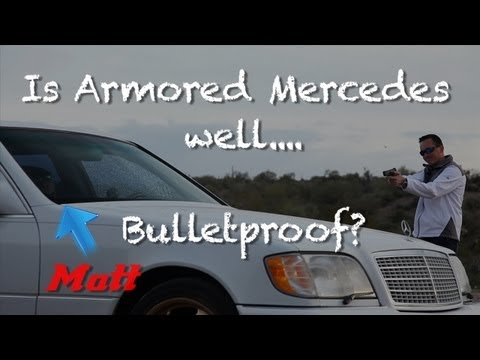 shooting - It goes without saying. DONT buy a bulletproof car and TRY THIS AT HOME with your friends.*** Bought a Factory Bullet Resistant Mercedes S600 (guard editi...