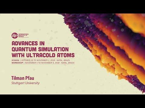 Dipolar quantum gases and liquids II - Tilman Pfau
