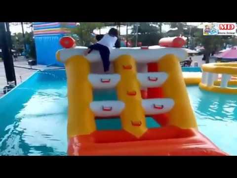 QYLA Asik Bermain Air Mainan Anak Kecil WaterSlide WaterPark Gofun  Cover BABY SHARK DANCE SONG