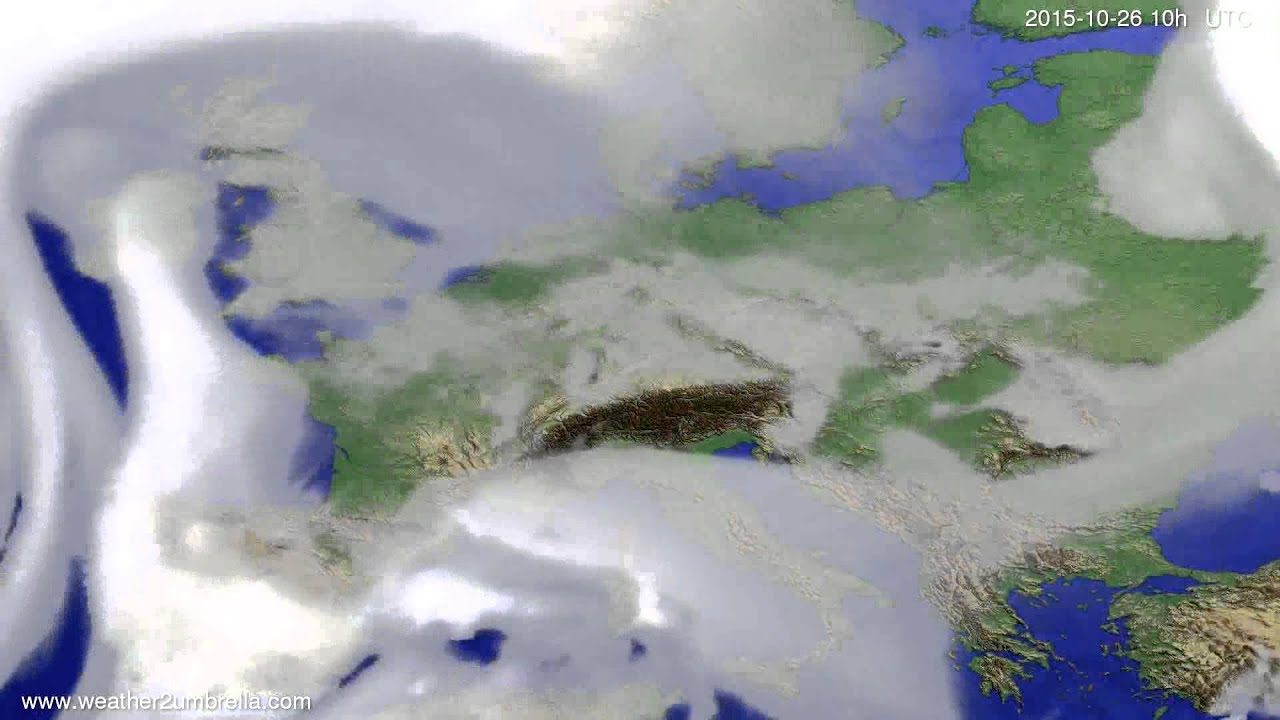 Cloud forecast Europe 2015-10-24