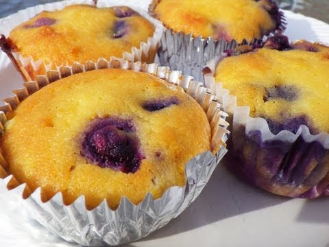 Paleo Low Carb Blueberry Muffin Recipe