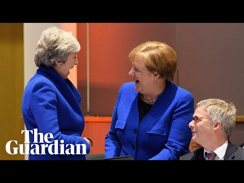 What had May and Merkel laughing together at the EU summit?