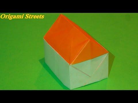 Как сделать дом из бумаги видио
