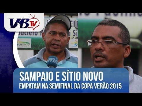 VBTv | Sampaio e S�tio Novo empatam no primeiro jogo da semifinal