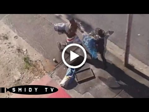 Brutal Street fight! - With Bricks in CapeTown