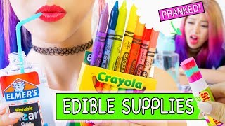 Video DIY EDIBLE SCHOOL SUPPLIES! 8 Pranks for Back to School NEW VERSION MP3, 3GP, MP4, WEBM, AVI, FLV Juli 2019