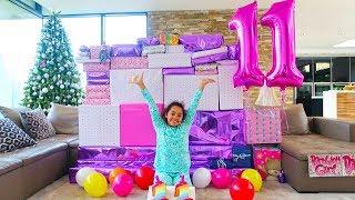 Video TIANA'S 11th BIRTHDAY PARTY OPENING PRESENTS!!! MP3, 3GP, MP4, WEBM, AVI, FLV Januari 2019