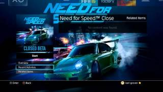 NEED FOR SPEED BETA - MY FIRST EXPERIENCE MY VIEWS, Need for Speed, video game