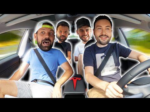 On teste la Rapidité de la Tesla avec LeBouseuh et Les Inachevés !