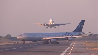 [FULL HD] UTair Aviation 767-300 NEAR MISS? GO AROUND at Barcelona-El Prat - YouTube