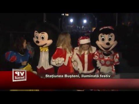 Statiunea Busteni, iluminata festiv