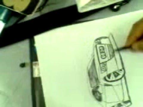 تعليم رسم سيارات باليد