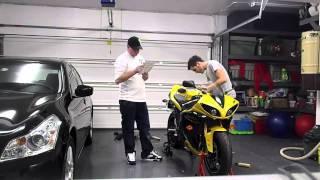7. 2009 Yamaha R1 comes home