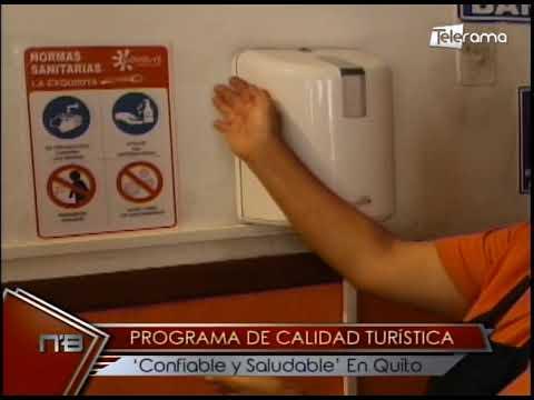 Programa de calidad turística Confiable y Saludable en Quito