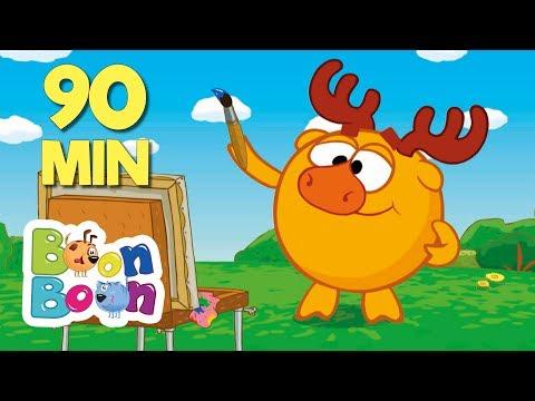 KikoRiki 90MIN - (Să desenăm) Desene animate | BoonBoon (видео)