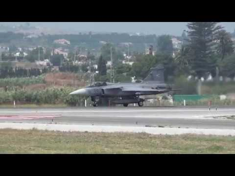 Hungary Air Force Saab JAS-39D Gripen (39) Take Off Malaga LEMG